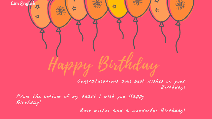 как поздравить с днем рождения на английском