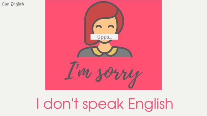 как сказать я не говорю по английски