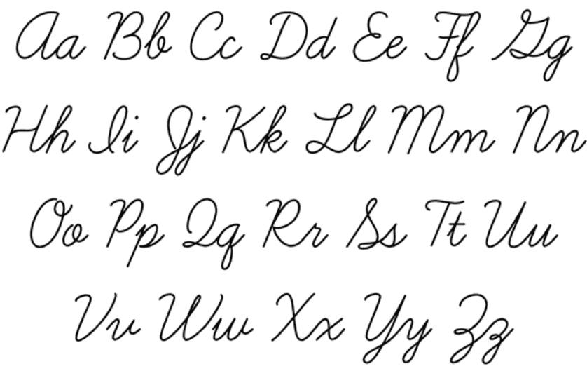 письменные буквы английского алфавита