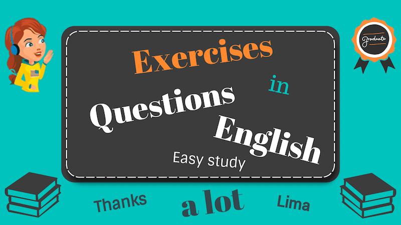 упражнения на виды вопросов в английском