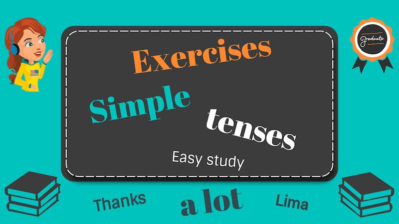 времена simple в английском языке упражнения