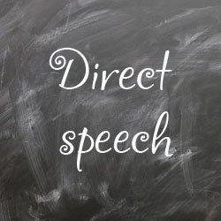 Прямая речь в английском языке