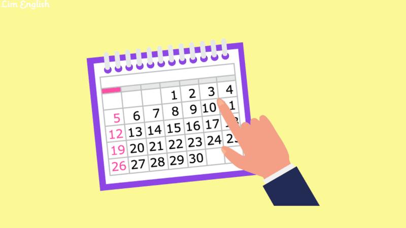 даты на английском