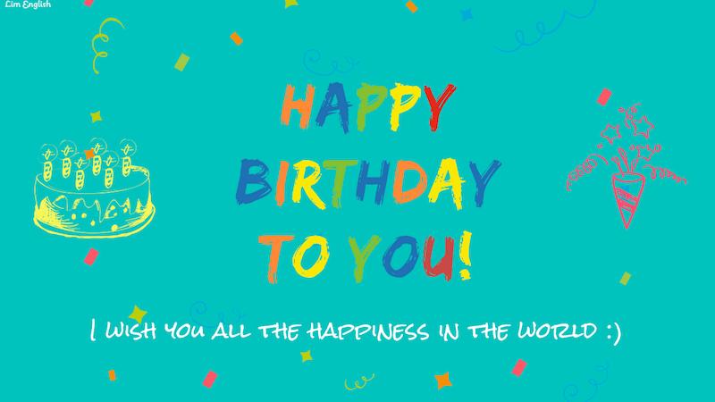 Поздравления с днем рождения на английском языке