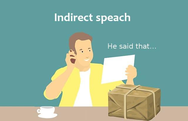косвенная речь в английском - иллюстрация