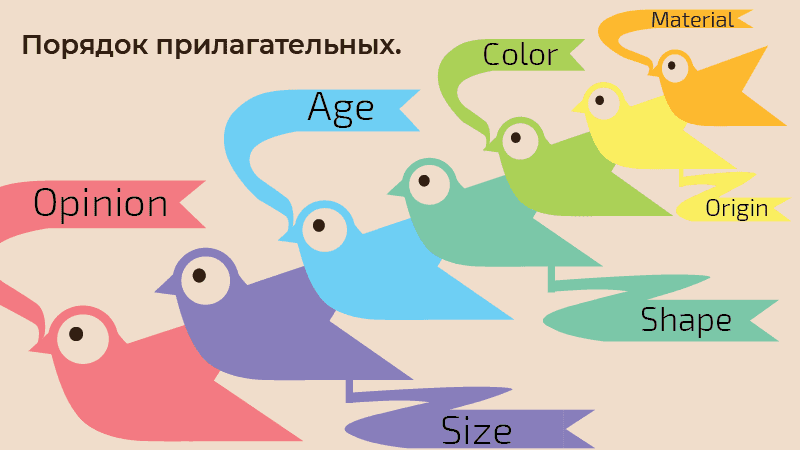 порядок прилагательных в английском языке