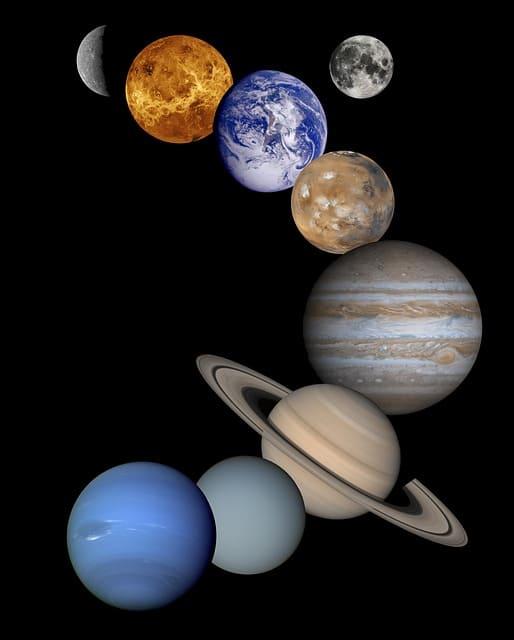 планеты солнечной системы на английском языке